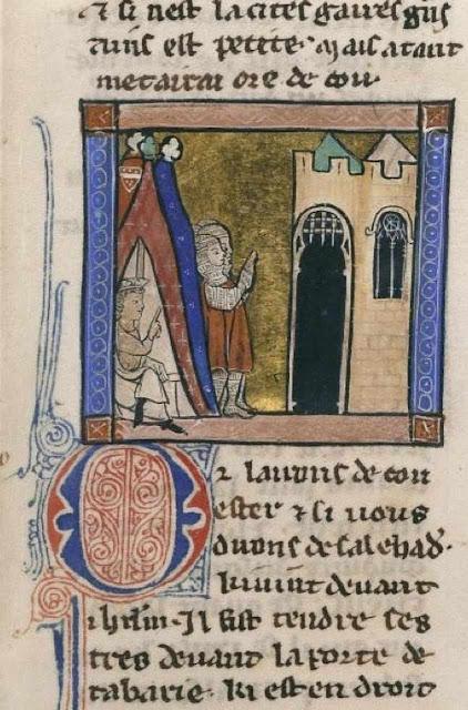 Sitio de Jerusalém, Français 770, fol 349 (1187). BnF
