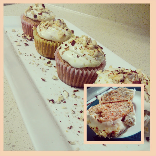 Carrot Hazelnut Cupcakes With Hazelnut Cream Cheese Frosting