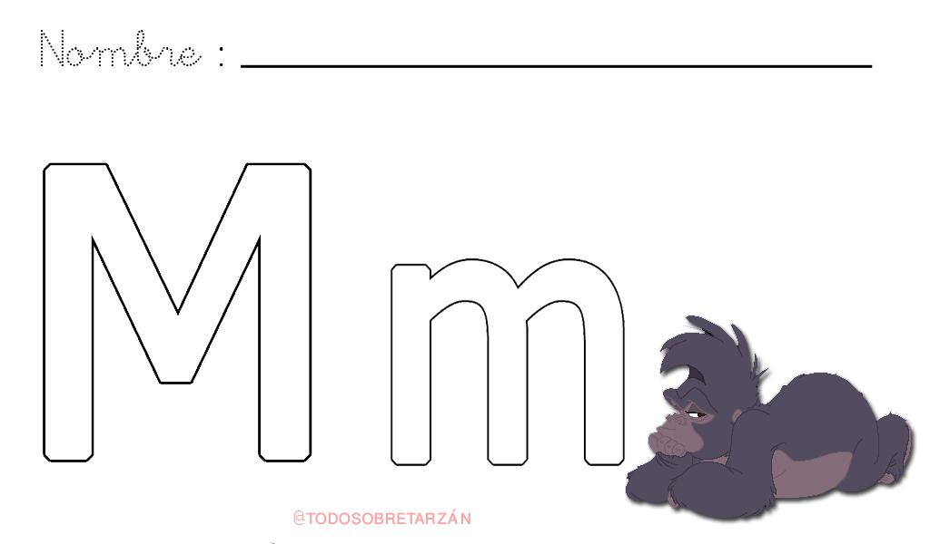 Moderno Letra M Hoja Para Colorear Foto - Dibujos Para Colorear En ...