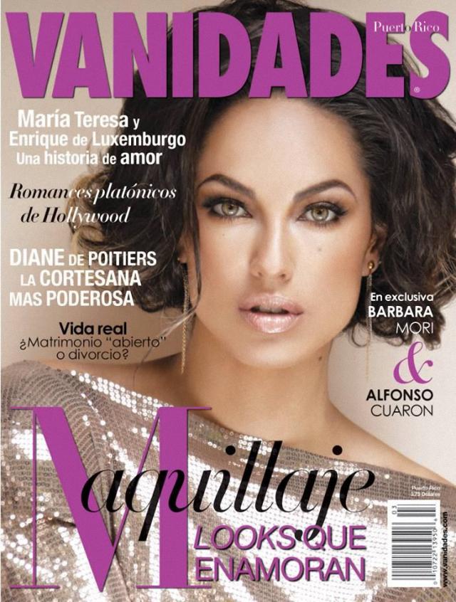 Bárbara Mori portada de la revista Vanidades Puerto Rico febrero 2014