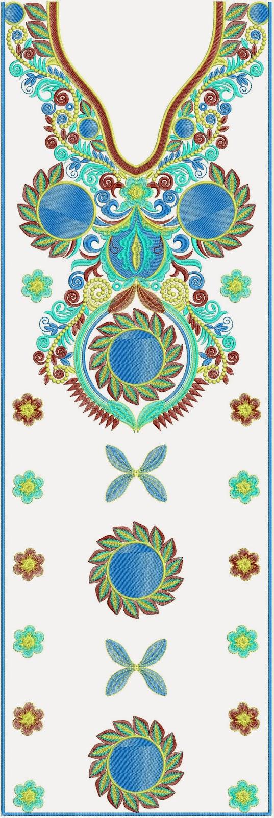 Embdesigntube bridal embroidery kurti dresses designs