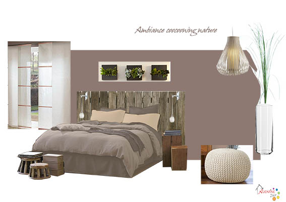 ambiance chambre adulte nature id e. Black Bedroom Furniture Sets. Home Design Ideas