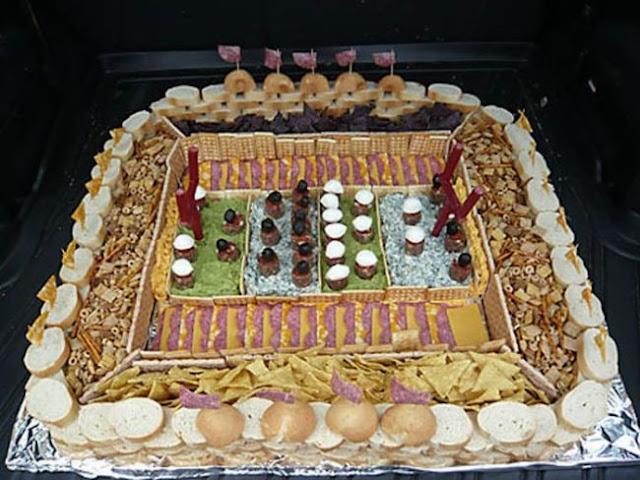 Football Stadiums Food Sculptures