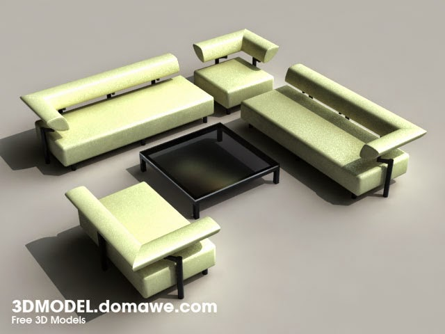 Free Design Elements Cor Arthe Sofa & Table 3D Model Free