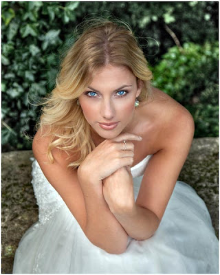 Perfect bride with beautiful eyes