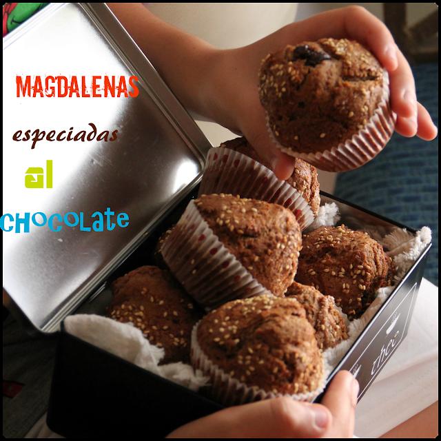 Magdalenas Especiadas Al Chocolate