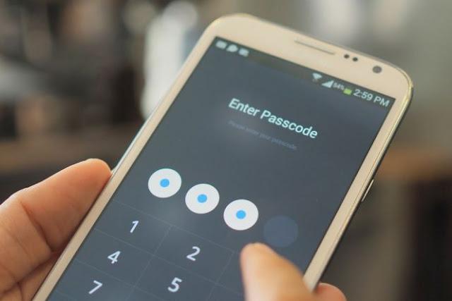Mengunci smartphone menggunakan password