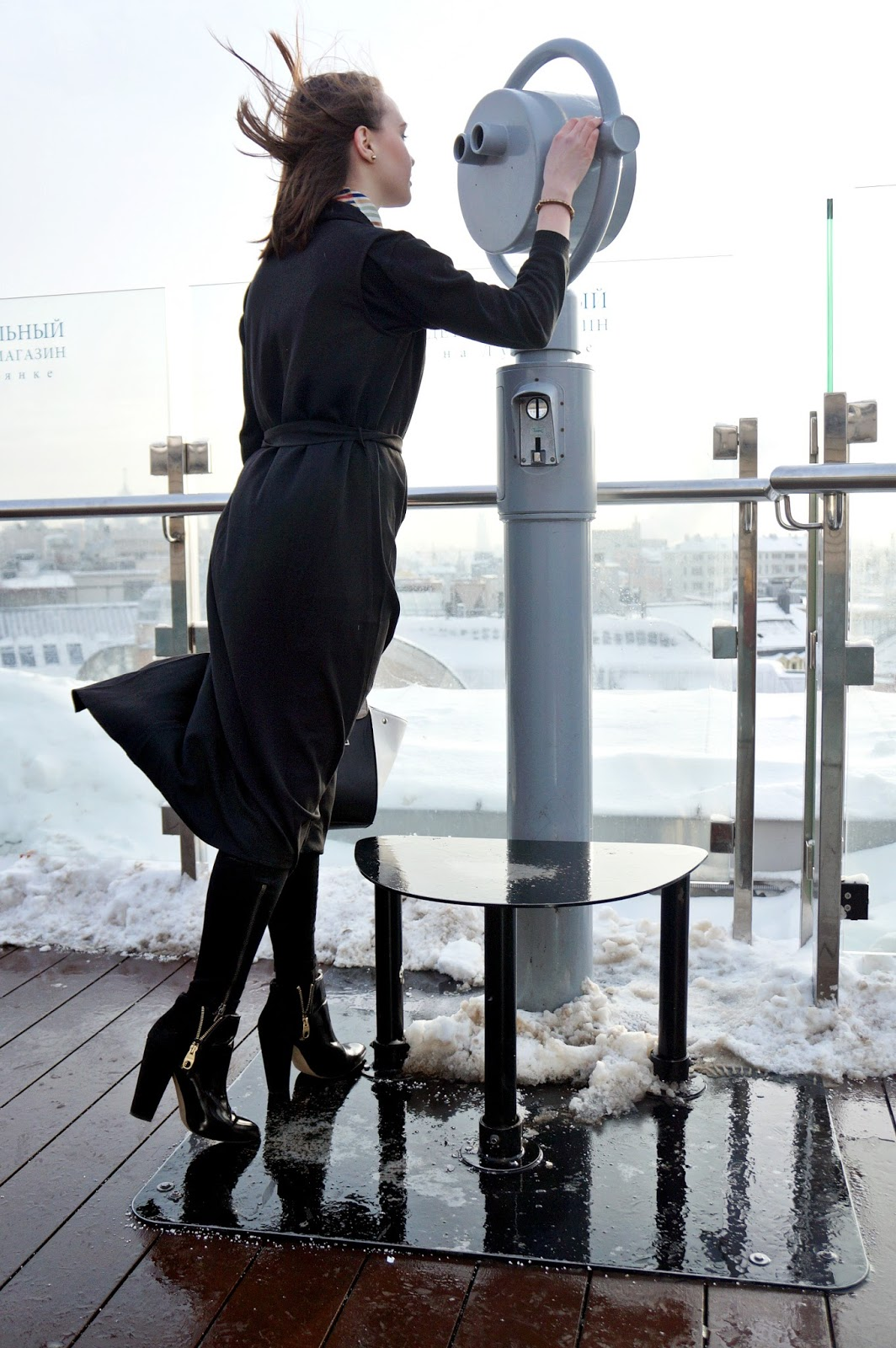 Long black vest | Alina Ermilova | Fashion blogger