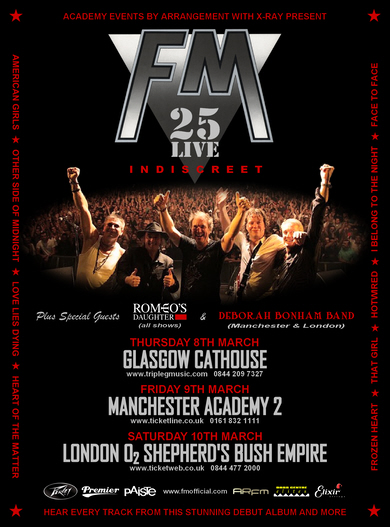 FM - Indiscreet 25 Live Anniversary tour dates