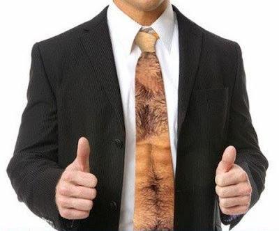 胸毛ネクタイ