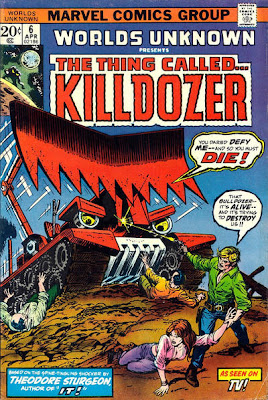 Worlds Unknown #6, Killdozer cover