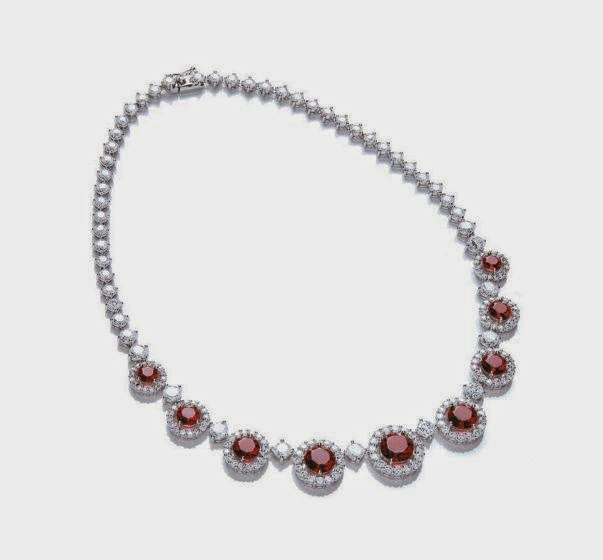 ruby red windsor roulette collar necklace