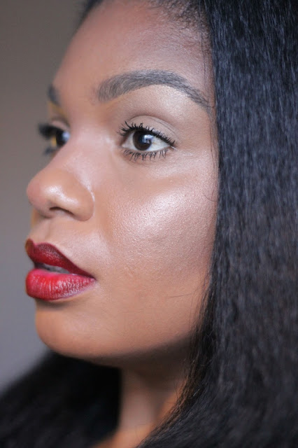 dark red lipstick for black women woman brown