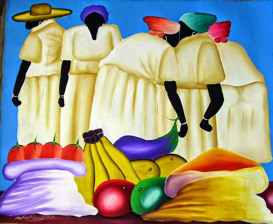pinturas-de-africanas-con-frutas