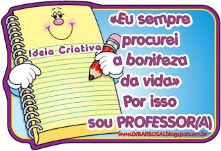 Recadinho Feliz Dia dos Professores
