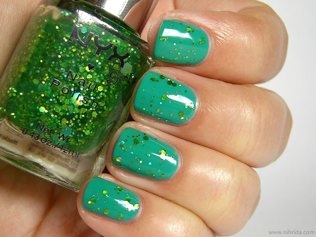 NYX Girls Nail Polish - Enchanted Forest over Mermaid Green