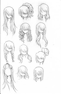 how to draw Anime Hairstyles