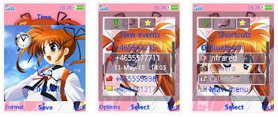 魔法少女奈葉SonyEricsson手機主題for Elm/Hazel/Yari/W20﹝240x320﹞