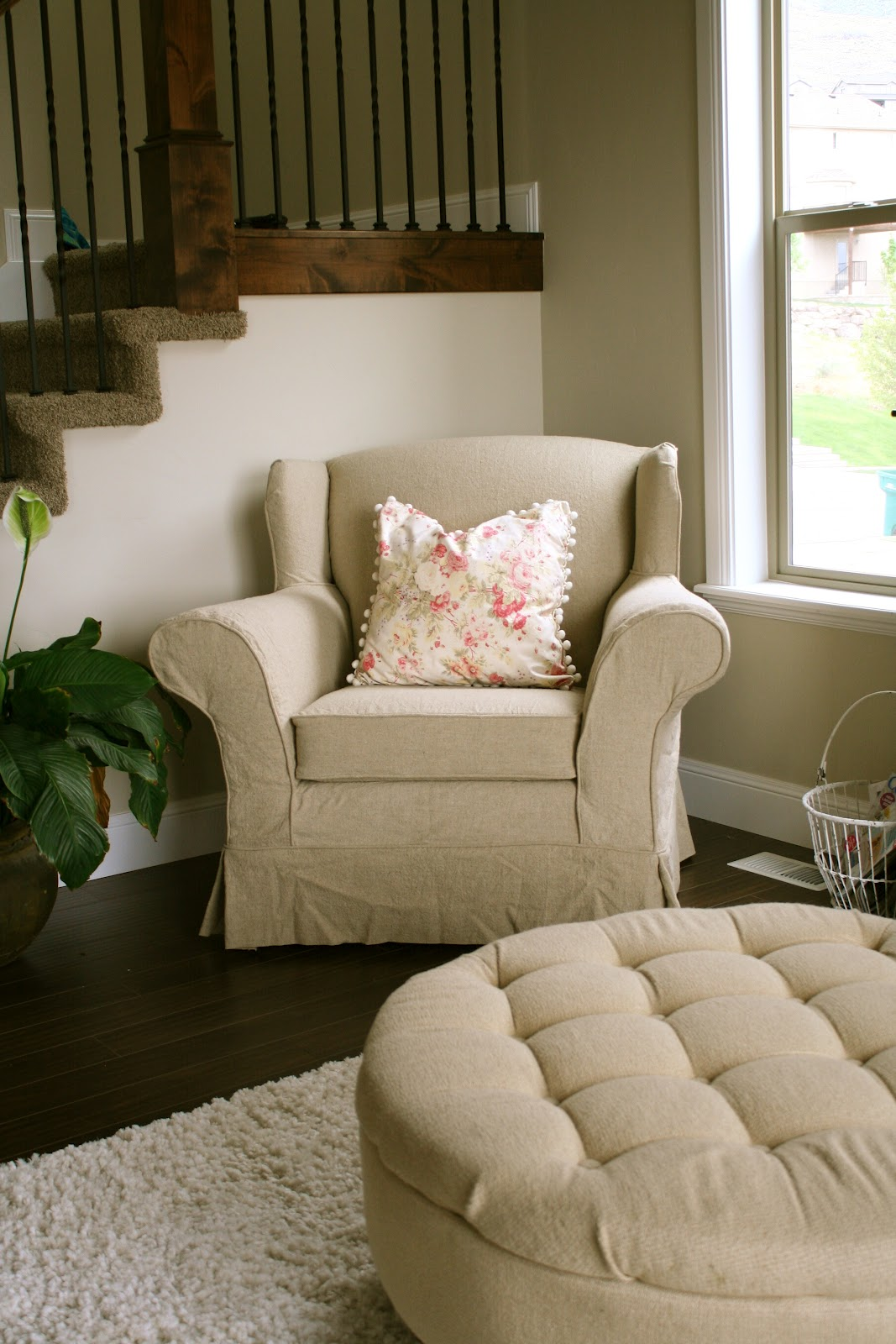 Custom Slipcovers By Shelley Tan Linen Chair And