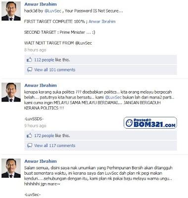 Facebook Anwar Ibrahim Di Godam