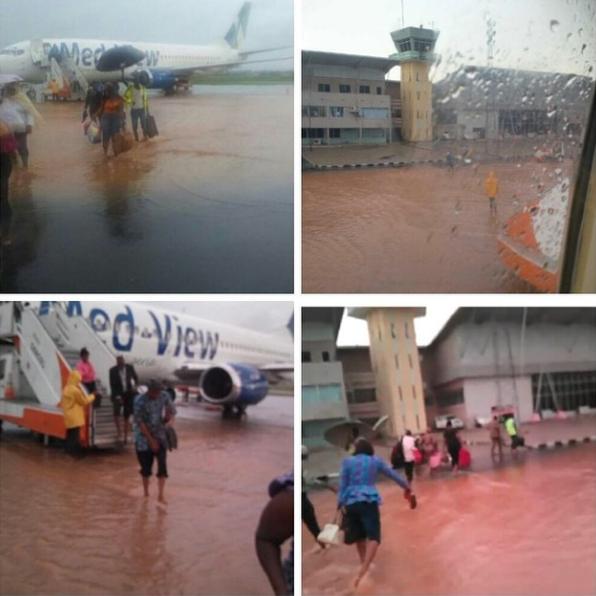 New Enugu International Airport Gets Flooded {PHOTOS}