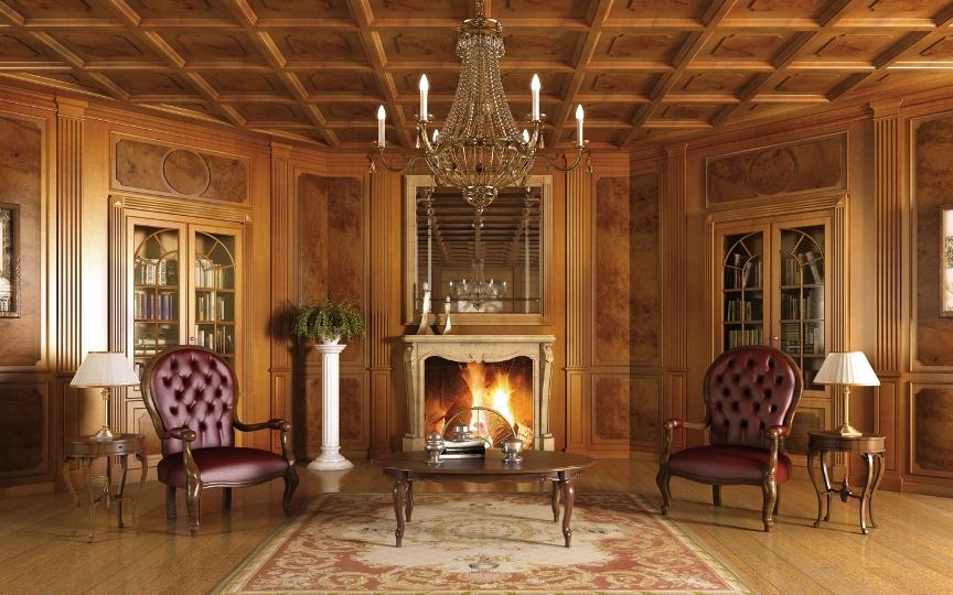 Italian country villas interior the for Italian villa interior