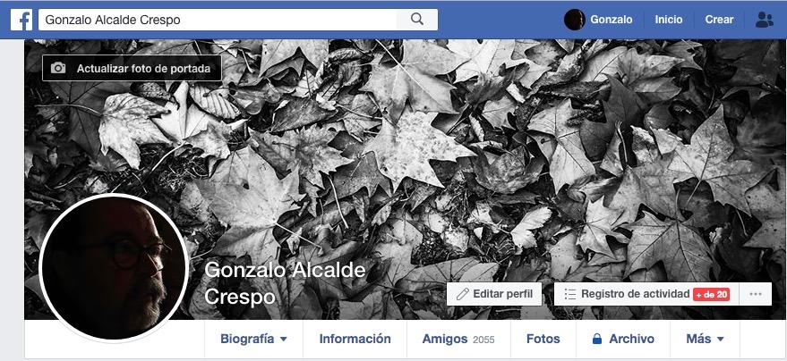 Gonzalo Alcalde en Facebook