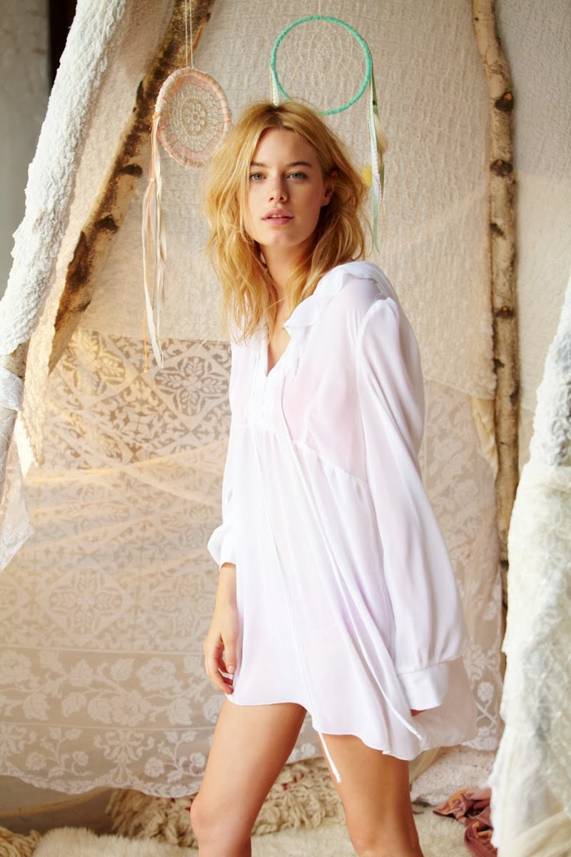 SHEILA MARQUEZ GETS ROMANTIC FOR FREE PEOPLE'S NOVEMBER LOOKBOOK