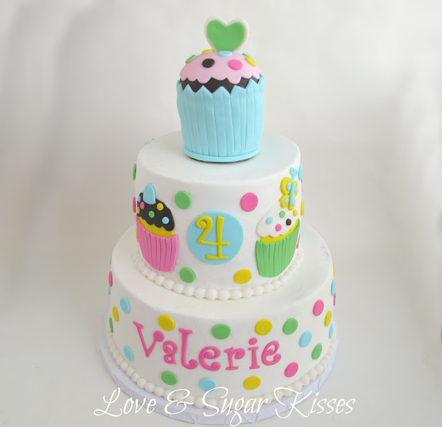 ... girls birthday who was celebrating with the cupcake polka dot theme