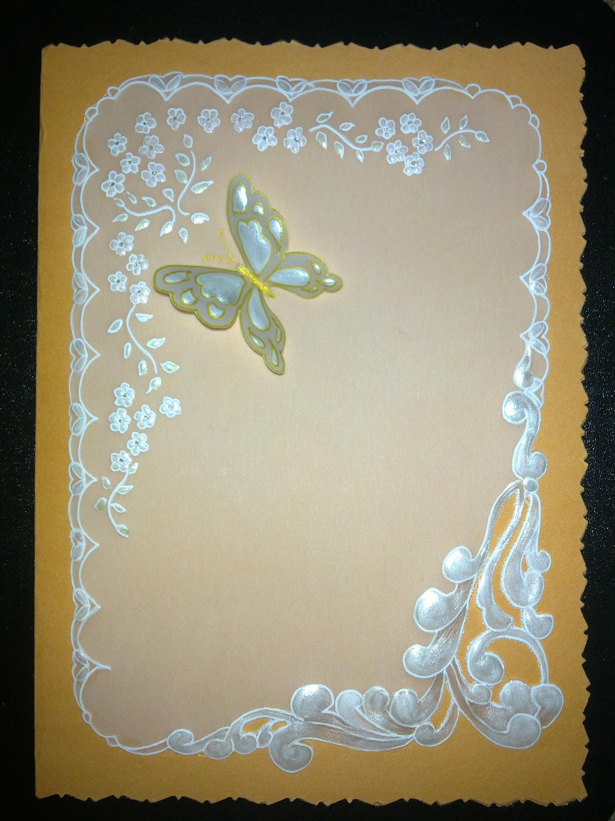 una mariposa sobrepuesta y los detalles internos tanto como los bordes ...