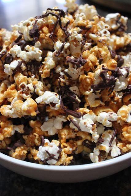Luscious Confections: Salted Caramel & Dark Chocolate Popcorn