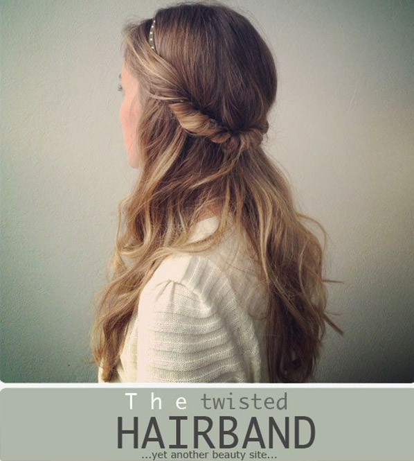 Twisted hairbrand tutorial