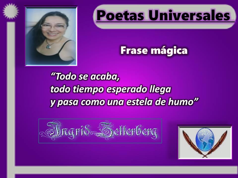 Mi reflexión destacada en Poetas universales