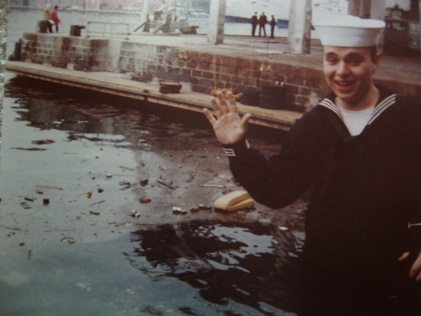 Billy Scire first day in port Naples January 1983