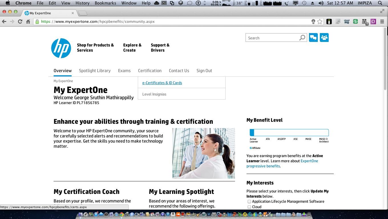 Hp Certification Portal - Scroll down