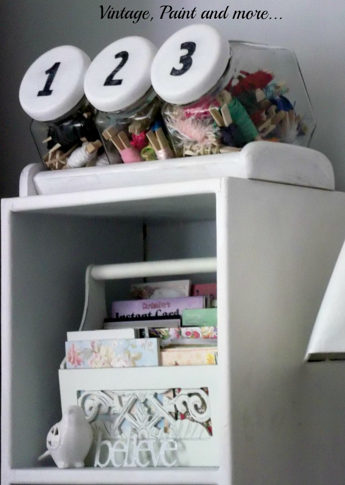 Vintage, Paint and more... recycled ribbon storage, scrapbook paper storage,