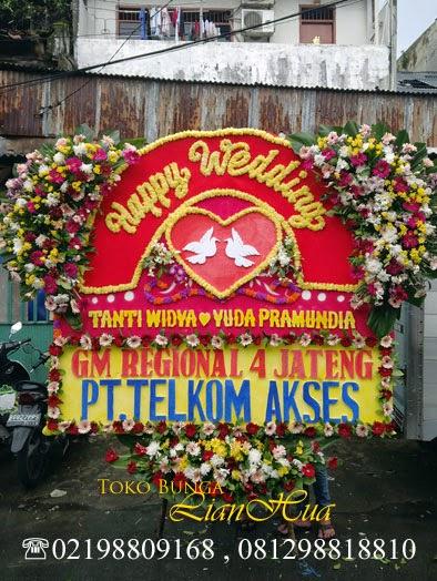 papan bunga, bunga ucapan pernikahan, toko bunga di jakarta, karangan bunga