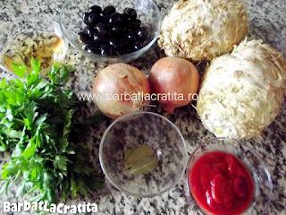 Mancare de telina cu masline ingredientele necesare retetei
