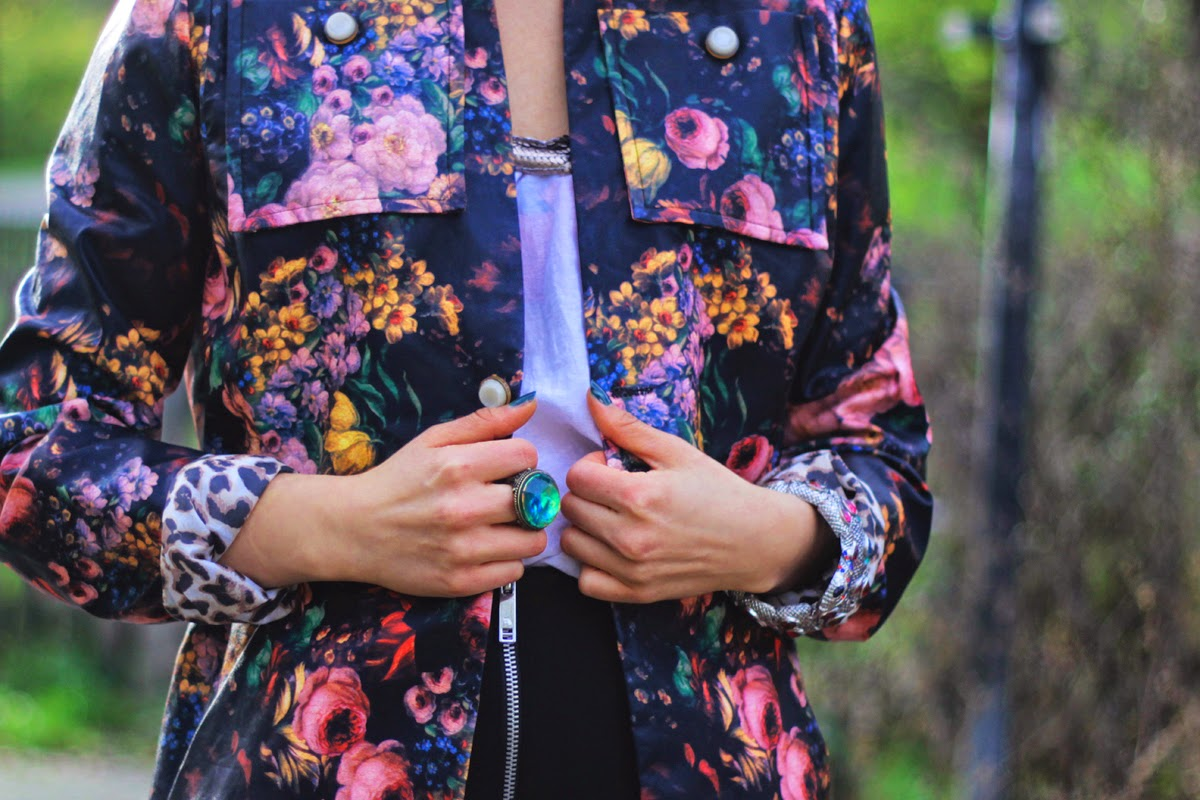 floral print jacket fashion outfit style series