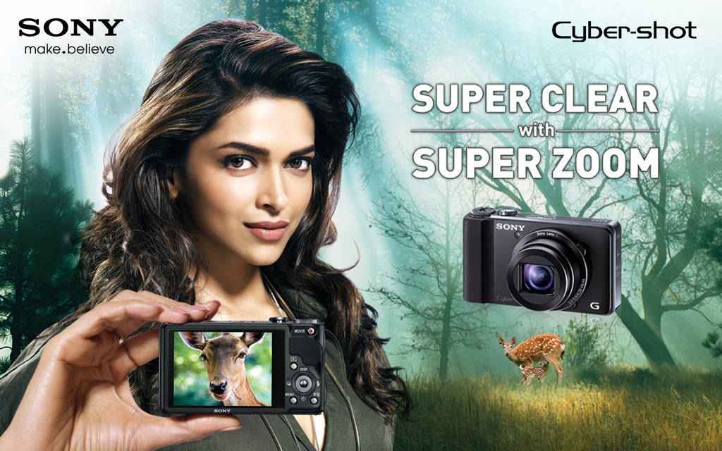 Deepika Padukone Sony Cybershot New Print Ads