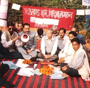 Rajen Todariya at dharna in Raajghat 1996 for the seperate Uttrakhand