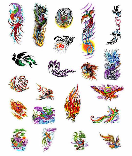 Phoenix Egyptian Tattoo Design