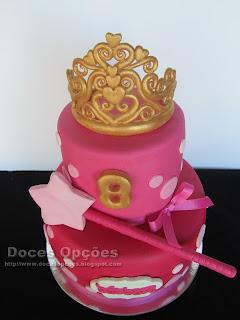 bolo aniversário fada princesa bragança doces opçoes