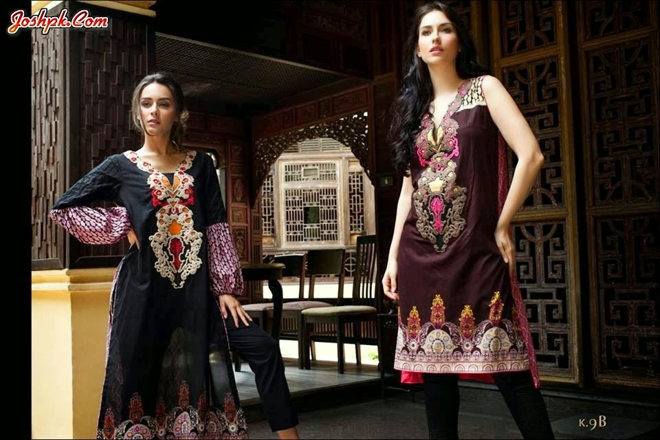 Firdous Exclusive Embroidered Kurtis Summer Wear Collection 2014
