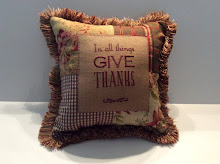 In all things  GIVE THANKS - red/brown/sage mix
