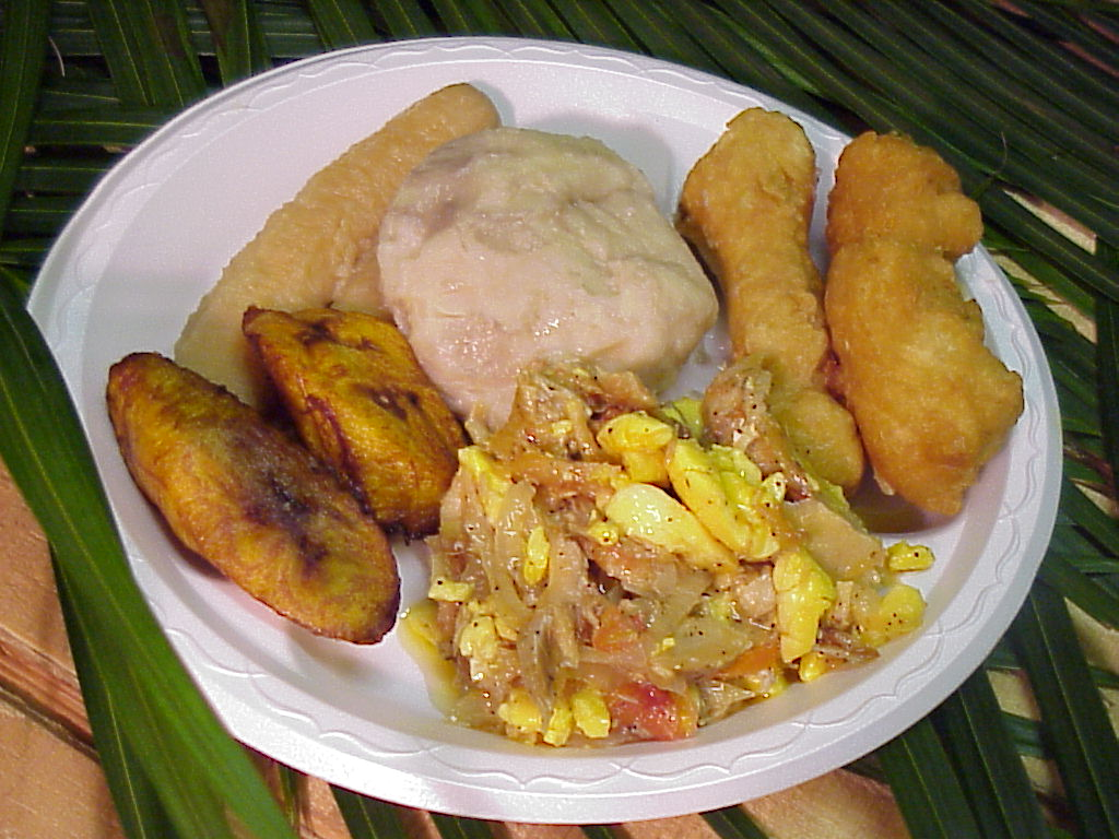 Sunday morning delight for Salt fish ackee