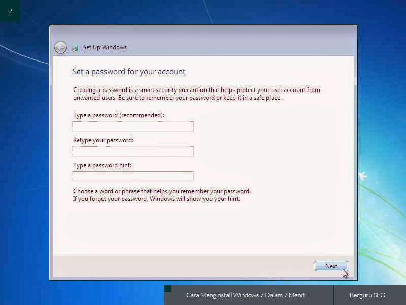 Cara Menginstall Windows 7 gambar 9