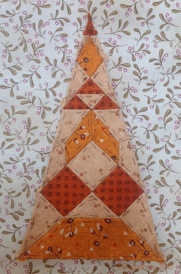 Dear Jane Quilt - Border Triangle Block  BR7 Cheryl's Clown