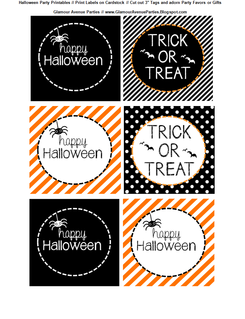 It is a photo of Insane Printable Halloween Tags