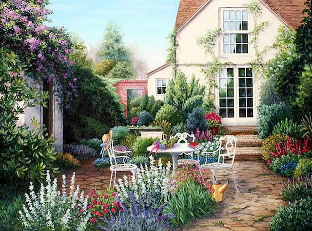 Cuadros modernos pinturas y dibujos cuadros de casas con - Cuadros de casas de campo ...